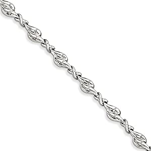 Sterling Silver Diamond Bracelet, 7 inches, Outstanding Bracelets For Women, Fine Jewelry