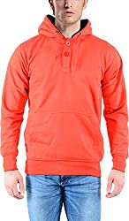 vibgyor Men's Cotton Sweatshirt (VSWFQRDWBN_42, Red, 42)