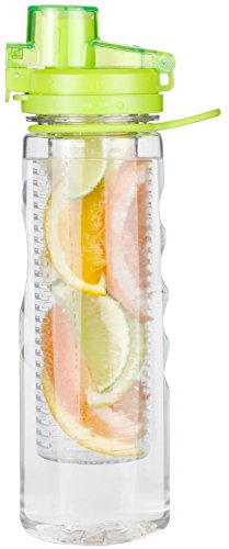 Water Infuser Bottle Leak Proof Flip-top Sport Water Bottle BPA-Free Tritan 25 Oz (Green) (Ours Is Fruit compare prices)
