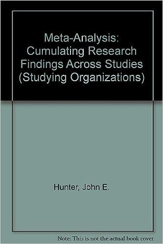 Meta-Analysis: Cumulating Research Findings Across Studies (Studying Organizations), Hunter, John E.; Schmidt, Frank L.; Jackson, Gregg B.