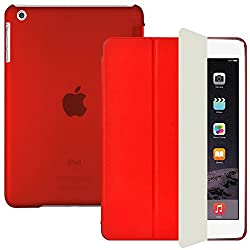 AirCase Slim Folio Case with Translucent Hardback Protection with for iPad Air [BLOOD RED]