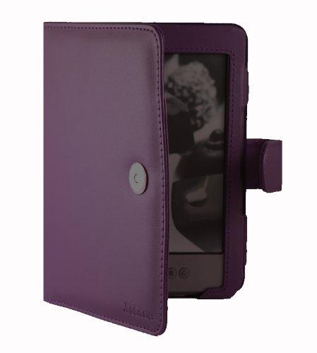 Jkase Premium Quality Custom Fit Folio Leather Case Cover For Latest Generation 2011 Kindle 4 Wi-Fi 6 - Inch E Ink Display 4Th Generation 6 - Inch Kindle Wi-Fi W/O Keyboard Purple