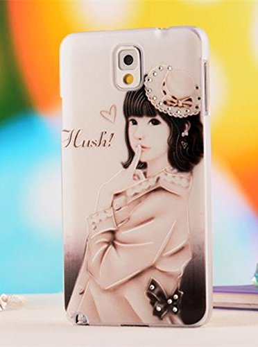 Nancy'S Shop Colorful Painting 3D Hard Cell Phone Accessories Case And Covers For Unlocked Tmobile Samsung Galaxy Note 3 Iii (Little Girl)