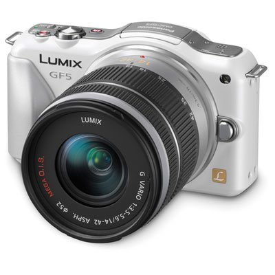 Panasonic Lumix DMC-GF5KW Live MOS Micro 4/3 Compact Sytem Camera with 3-Inch Touch Screen and 14-42 Zoom Lens (White) Big SALE