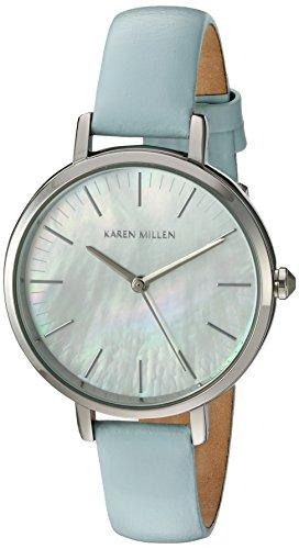 Karen Millen Orologio da Polso, Analogico, Donna, Pelle, Blu