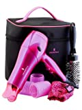 Powerful Hair Dryer 2200 watt Ready Set Blow - Big Hair Kit + Bag + Free Shipping + With a 2200-watt ionic hairdryer, an unique sock volumiser to diffuse airflow, big 50 mm volume rollers for root lift, large 50 mm barrel brush