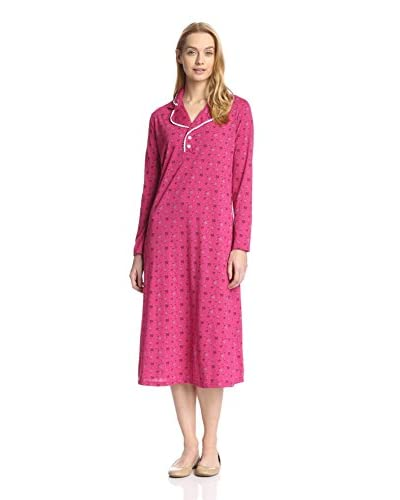 Aegean Apparel Women's Bouquet Print Nightgown