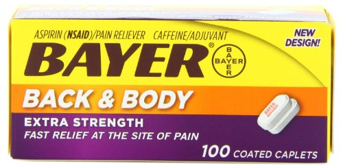Bayer Extra Strength Back & Body Caplets 500mg, 100-Count Caplets (Bayer Extra Strength compare prices)