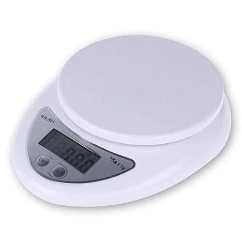 LemonBest® Digital LCD électrique Cuisine Balances 5 kg postal colis alimentaire Poids Diet, Kitchen Scale Unit Convert Tare Calibration