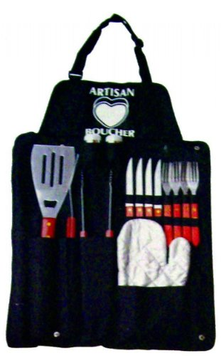 Creative Motion Industries 12714 BBQ Set with Apron 15-Pc