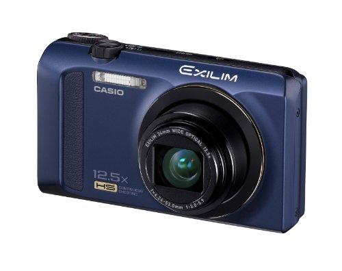 Casio Exilim EX-ZR200 High Speed 16 MP, 12x Optical Zoom Compact Digital Camera (Blue)