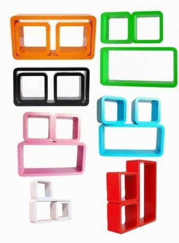 3er Set Design Wandregal Bücher CD Regal in verschiedene Farben NEU günstig kaufen