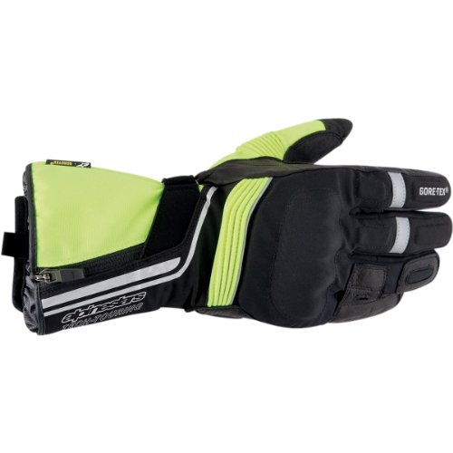 Alpinestars Jet Road Gore-Tex Gloves , Gender: Mens/Unisex, Distinct Name: Black/Yellow, Primary Color: Black, Size: XL, Apparel Material: Textile 3522013-155XL