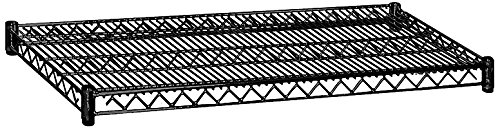 Salsbury Industries 9138BLK 36-Inch Wide by 18-Inch Deep Additional Shelf for Wire Shelving, Black