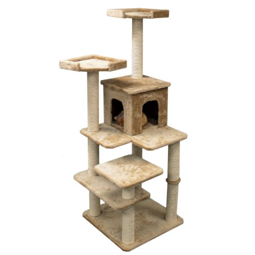 "66"" Casita Cat Furniture Tree Condo House Scratcher Pet Furniture By Majestic Pet front-115136"