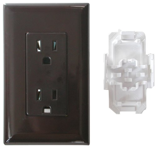 Diamond Group WDR15BR Brown 15 Amp Decor Speed Box Receptacle