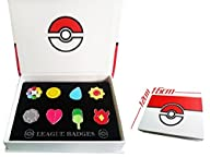 Pokemon Gym Badges set of 8PCS (Red)