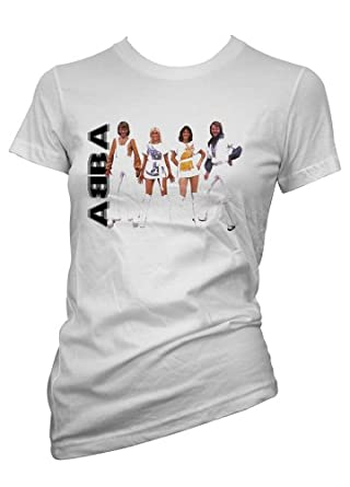 coole wei music band t shirts t shirt abba white damen. Black Bedroom Furniture Sets. Home Design Ideas