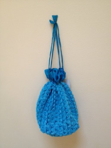 Lantern Moon Rosette Bag for Small Knitting Projects - Turquoise Blue from Lantern Moon