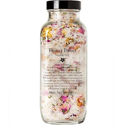 Flower Power Healing Bath Salts & Flowers - Organic Aromatherapy Bath Tea with Essential Oils, Relaxing Bath Soak by Angel Face Botanicals