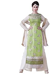 Namrah Collection Women's Georgette Embroidered (4443, Green)