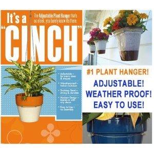 """-   The """"CINCH"""" Adjustable Weather Proof Plant Hanger -flower pot holder"""