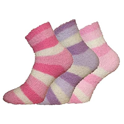 NEW Ladies Fluffy Warm Thermal Cosy Evening Bed Lounge Socks. Size To Fit UK 4-8 EU 36-40