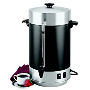 Focus Foodservice 58101R Regalware Commercial Aluminum with Black Satin Finish Coffeemaker with Non-Drip Spigot, 101-Cup