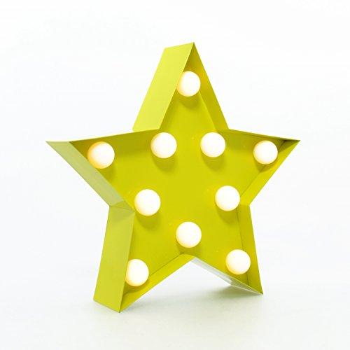star-karneval-licht-gelb