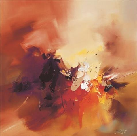 Perfect Effect Canvas ,the Cheap But High Quality Art Decorative Art Decorative Canvas Prints Of Oil Painting 'Modern Abstract Print On Canvas: Orange', 10x10 Inch / 25x26 Cm Is Best For Nursery Artwork And Home Artwork And Gifts