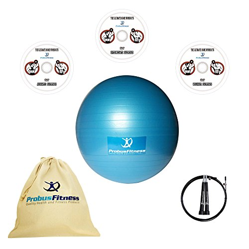 exercise-ball-65cm-large-gym-quality-with-pump-three-workout-dvd-videos-free-wire-jump-rope-cotton-k