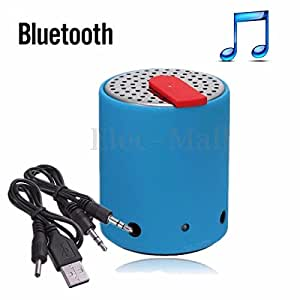 Generic 3.5mm Rechargeable Wireless Bluetooth Mini Speakers LED/HiFi USB Cable Universal (Bluetooth Speakers ) -Blue