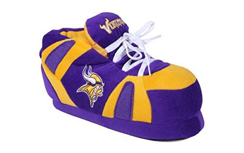 Happy Feet Mens and Womens Minnesota Vikings - Slippers - 2XL (Comfy Feet Slippers Minnesota compare prices)