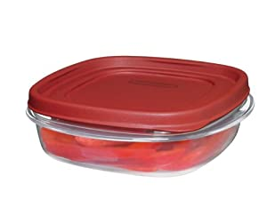 Rubbermaid Easy Find Lid Food Storage Container, Square, 3-cup