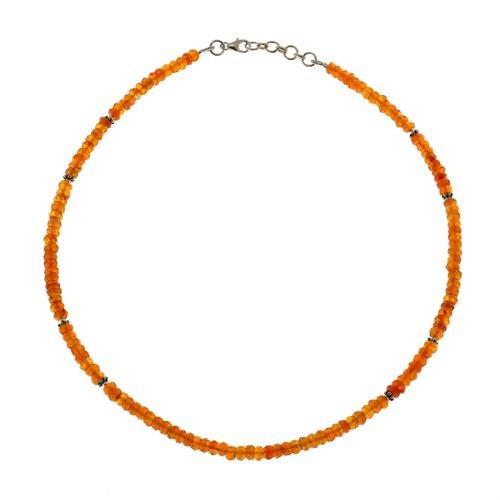 Carnelian Gemstone Necklace Healing Jewelry Indian Handmade