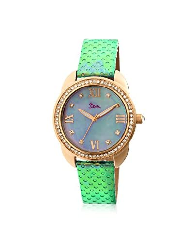 Boum Women's BOUBM2705 Forte Multicolor/Purple Leather Watch