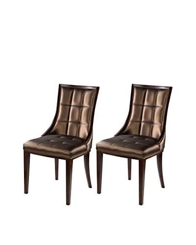 International Design 5th Ave Set of 2 Dining Chairs, Café Noir