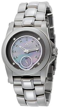 REACTOR Women's 96017 Helium Latte Pearl Dial Stainless Steel Sport Watch