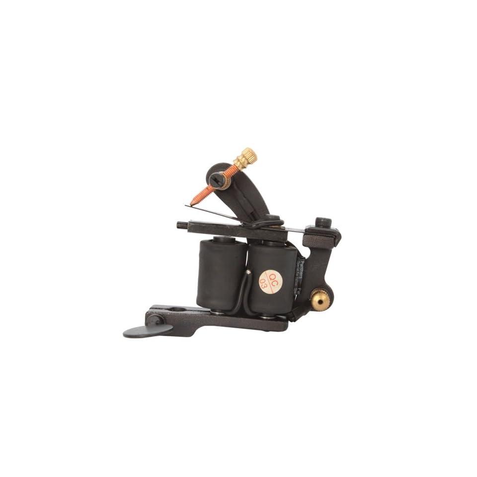 New Professional Mk008 8 Wrap Coils Cast Tattoo Machine Liner Shader Gun Black