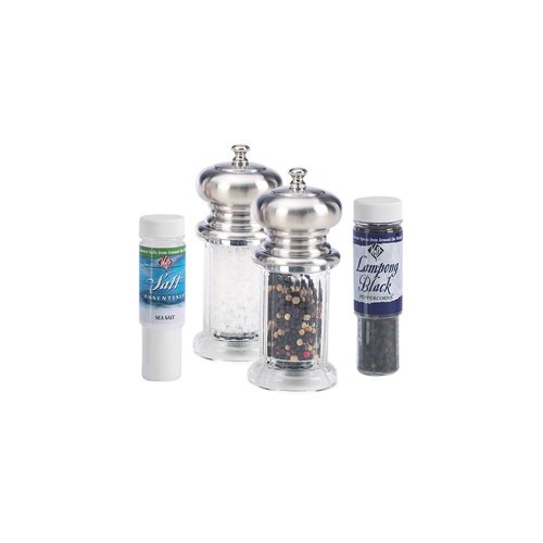 "William Bounds Acrylic 4-1/4"" Salt and Pepper Grinder Set"