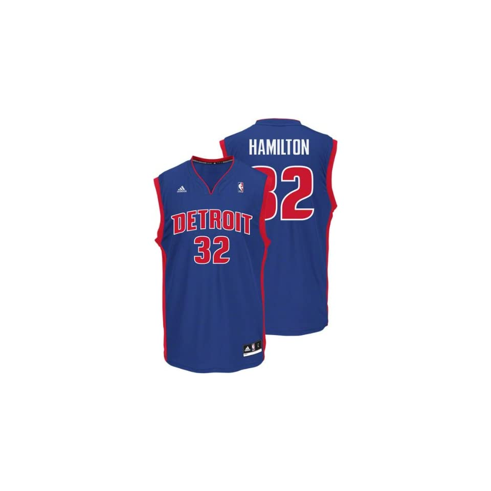9b2aab140 Richard Hamilton Blue Adidas Revolution 30 NBA Replica Detroit Pistons  Youth Jersey
