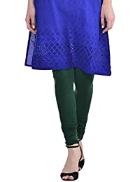 Sohniye Women's Cotton Leggings [Bottle Green]