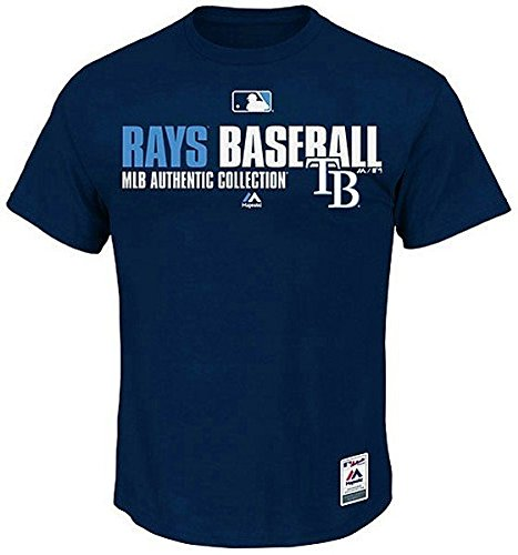 Tampa Bay Rays MLB Majestic Blue Authentic Collection Men's Tee Shirt Mens Big & Tall Sizes (3XT [XXXL-TALL])