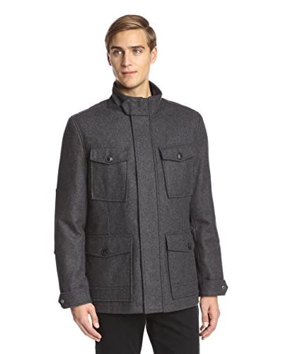 Marc New York Men's Trevor 32″ Four Pocket Wool Coat