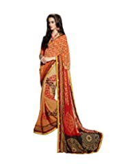 Triveni Contemporary Motifs Printed Fancy Saree 62009b