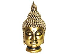 King International Polyresin Royal Golden Religious Buddha Idol/Fengshui Vasstu Idol /Statue/Figurine-30 cm