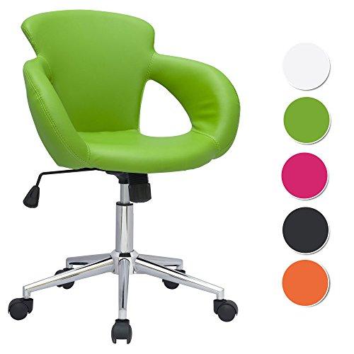 SixBros. Design sgabello girevole da lavoro sedia da ufficio verde - M-65335-1/2062