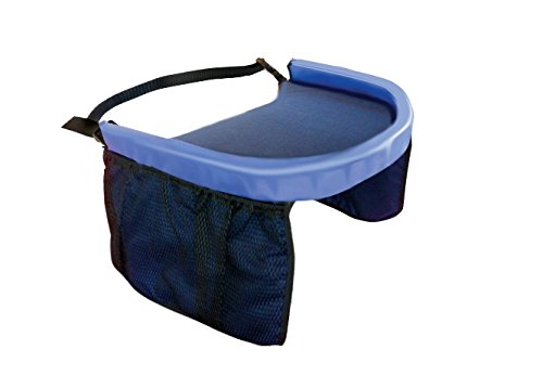 Travel Tray Car Seat Play Tray  - Includes 2 Attached Side Pouches - LIFETIME WARRANTY
