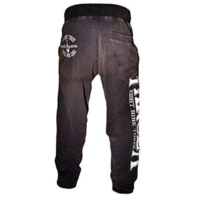 Yakuza Jogginghose Herren Sweatpant Logo-Stitching JOB 554 schwarz moon washed