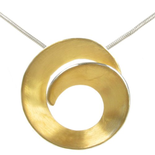 Cavendish French - Sterling silver and gold vermeil swirl pendant